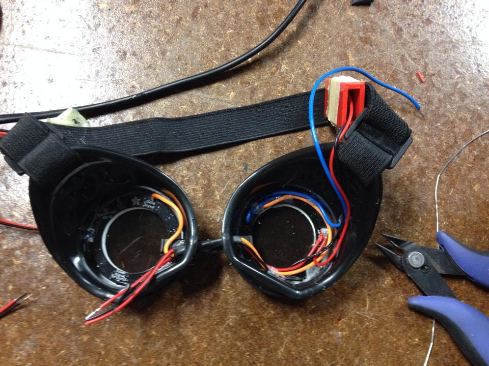 Wiring for the Cyberpunk goggles